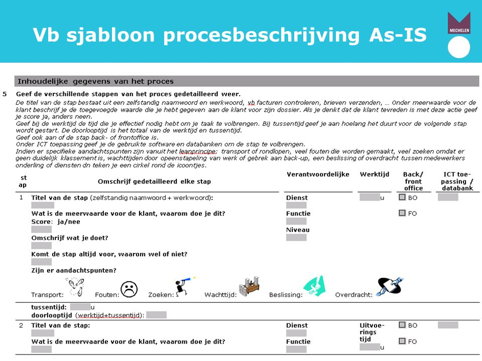 Vb sjabloon procesbeschrijving As-IS