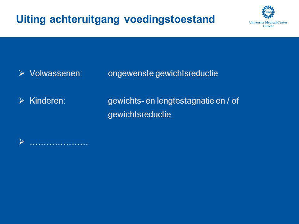 Uiting achteruitgang voedingstoestand