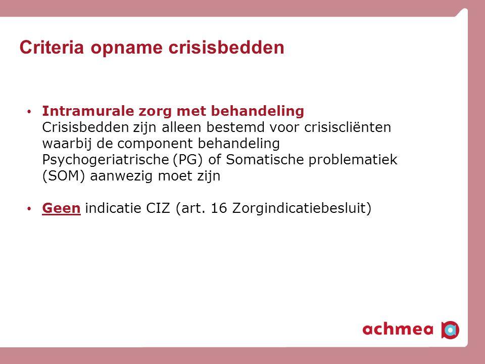 Criteria opname crisisbedden