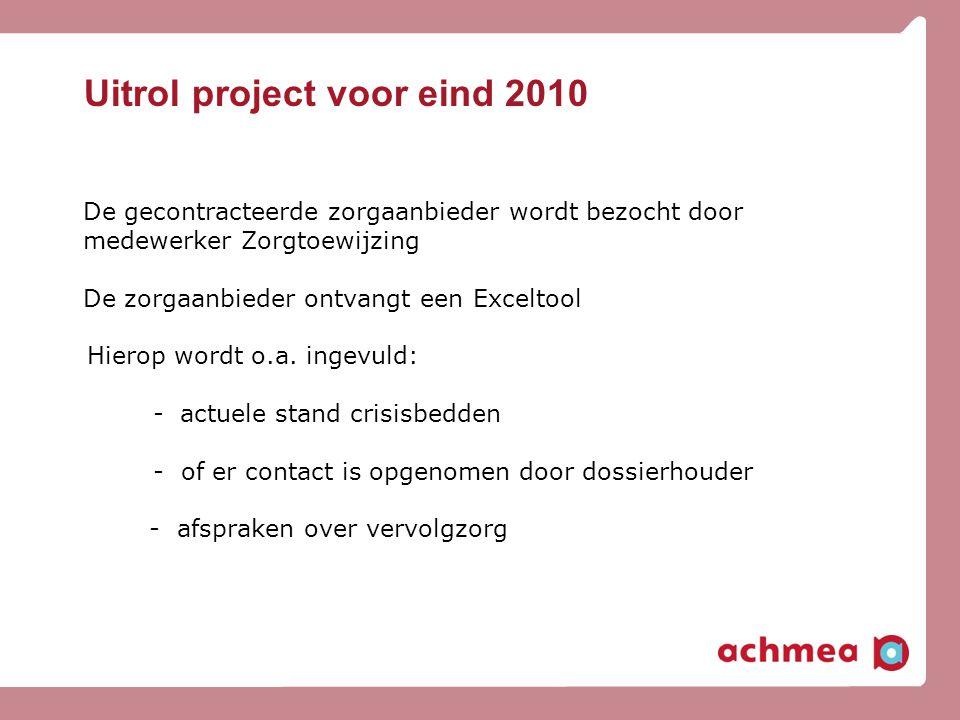 Uitrol project voor eind 2010