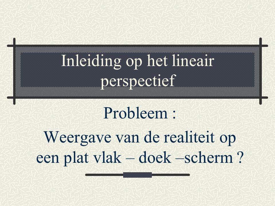Inleiding op het lineair perspectief