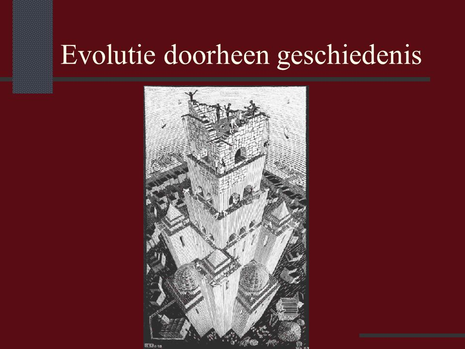 Evolutie doorheen geschiedenis