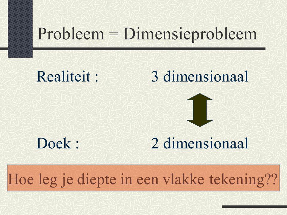 Probleem = Dimensieprobleem