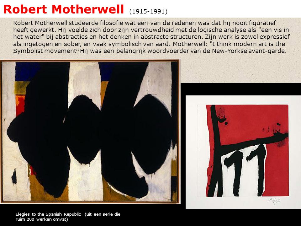 Robert Motherwell ( )