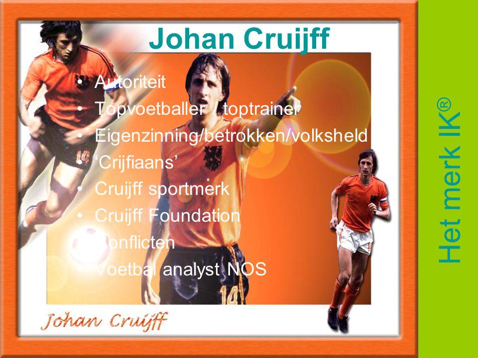 Johan Cruijff Het merk IK® Autoriteit Topvoetballer / toptrainer