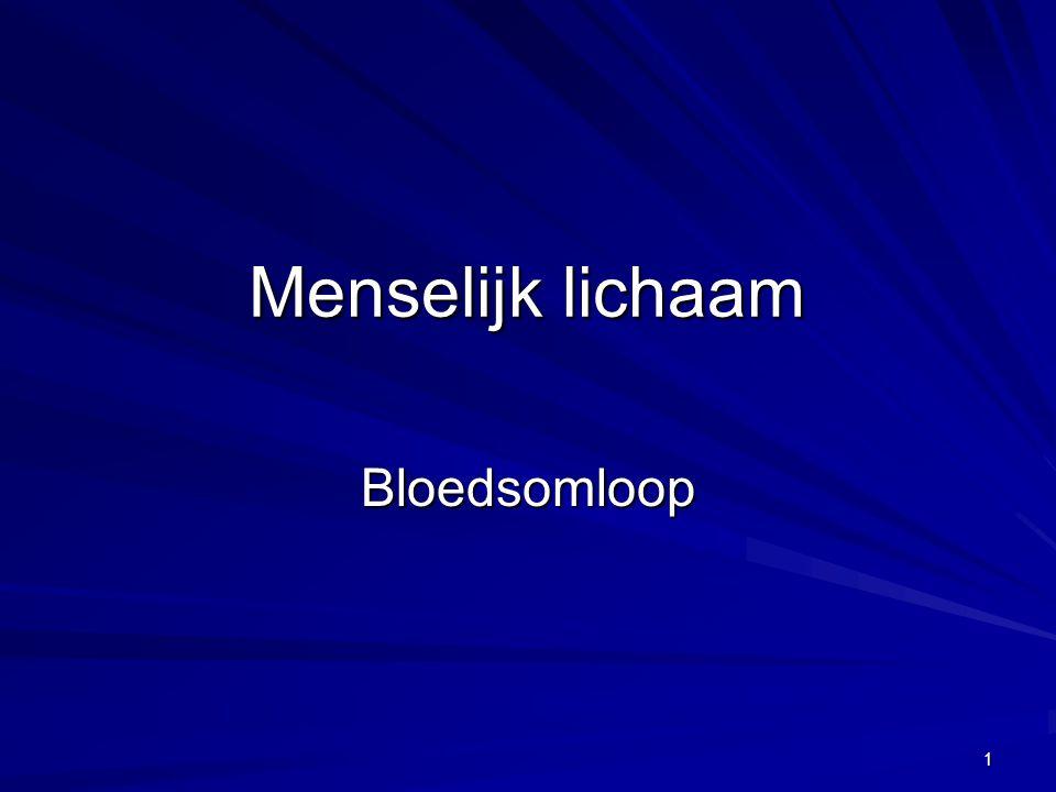 Menselijk lichaam Bloedsomloop