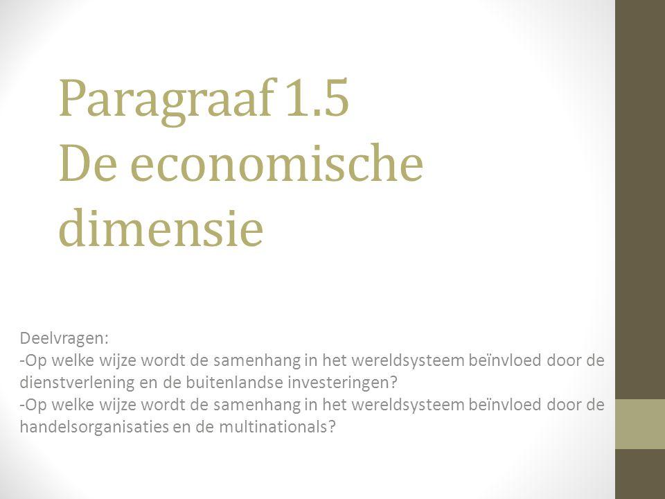 Paragraaf 1.5 De economische dimensie