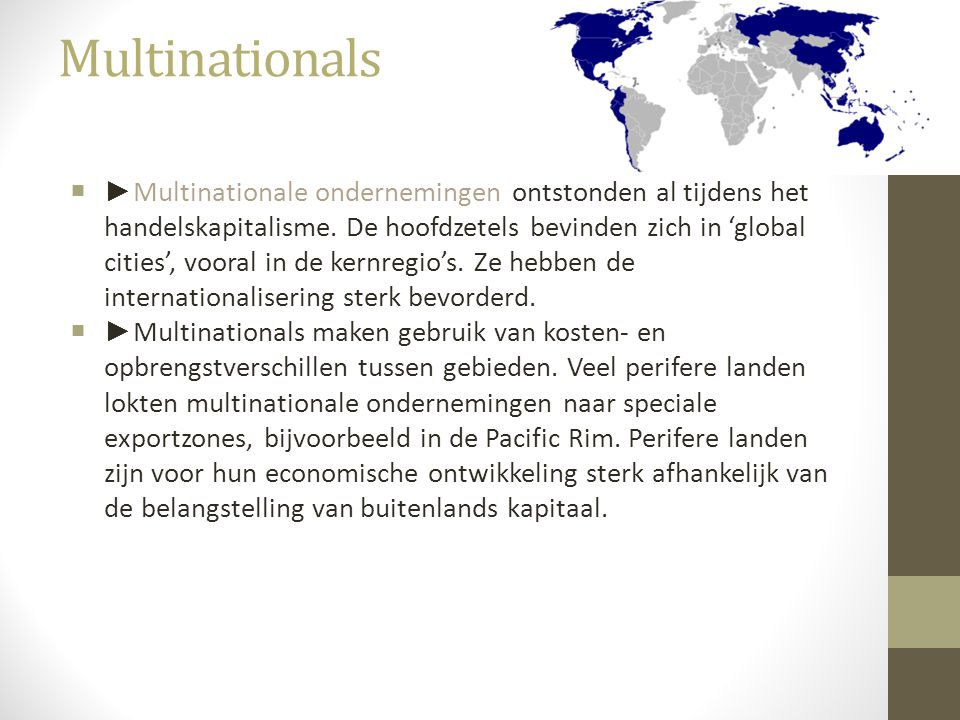 Multinationals