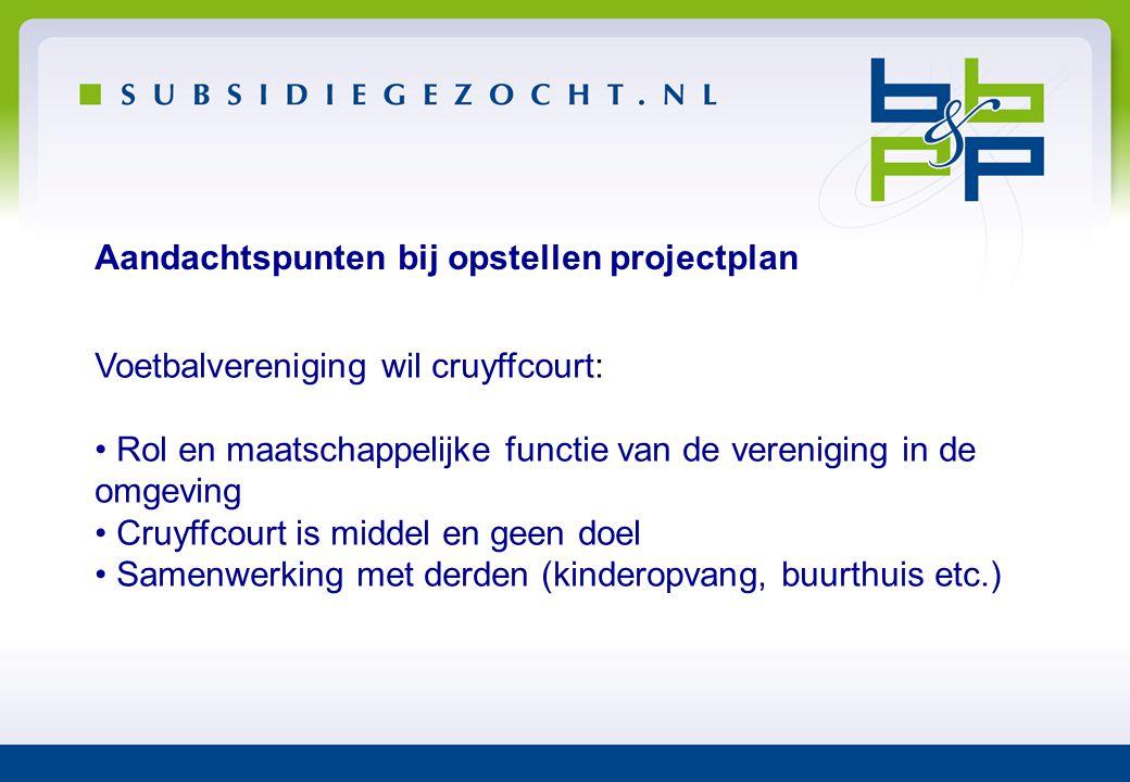 Aandachtspunten bij opstellen projectplan