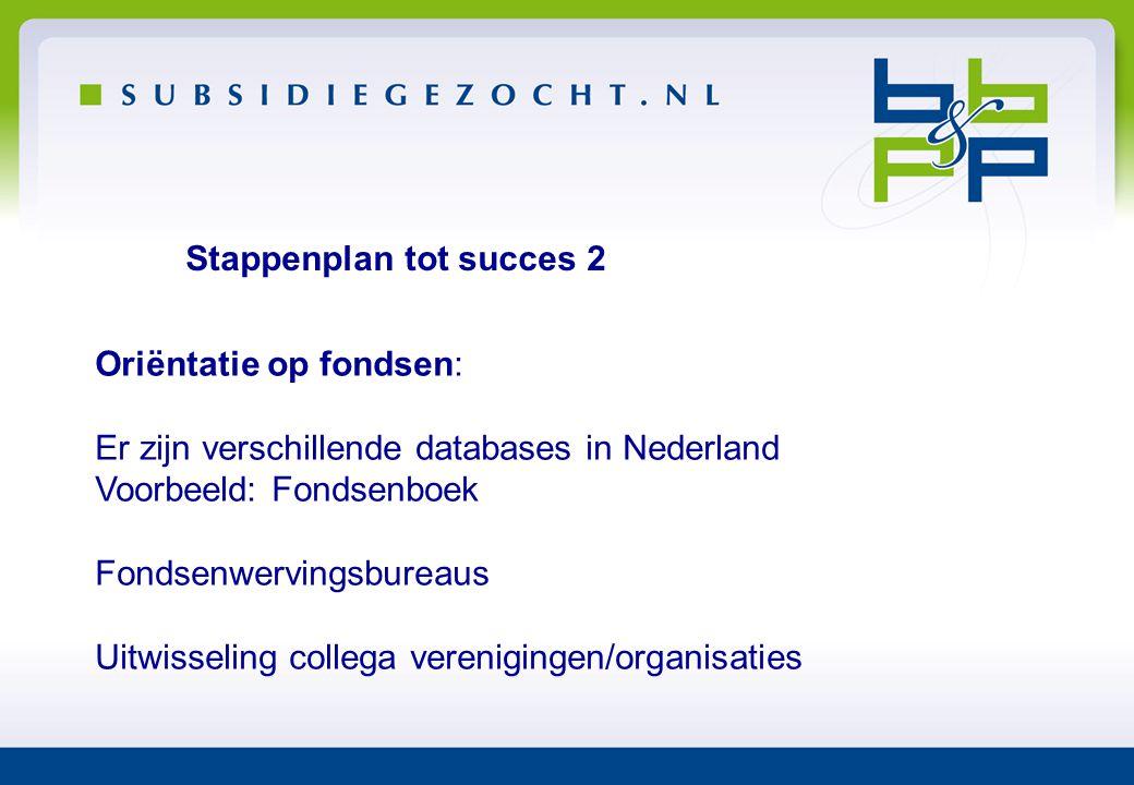 Stappenplan tot succes 2