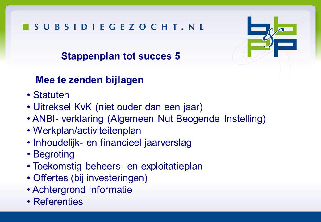 Stappenplan tot succes 5