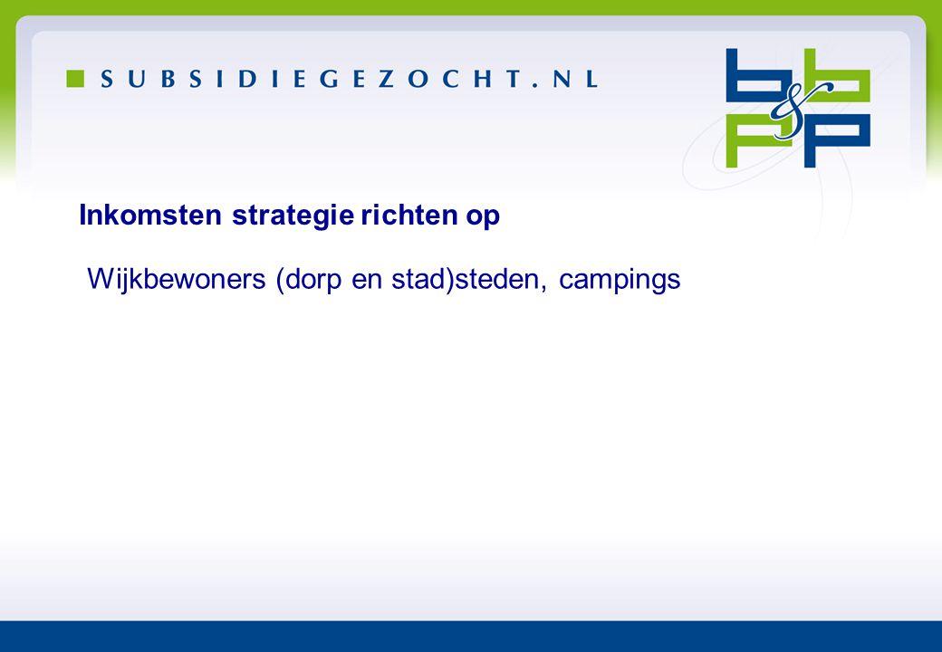 Inkomsten strategie richten op