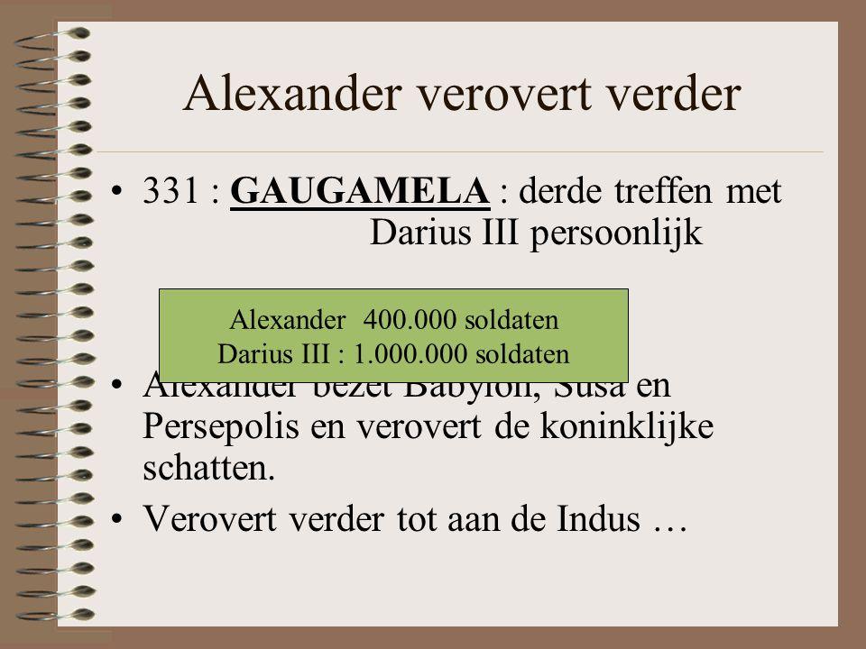 Alexander verovert verder