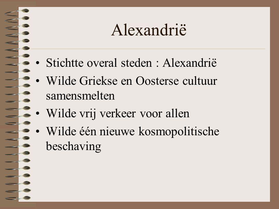 Alexandrië Stichtte overal steden : Alexandrië