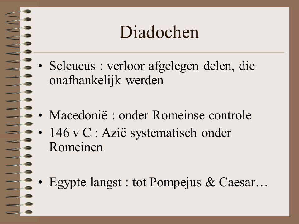 Diadochen Seleucus : verloor afgelegen delen, die onafhankelijk werden