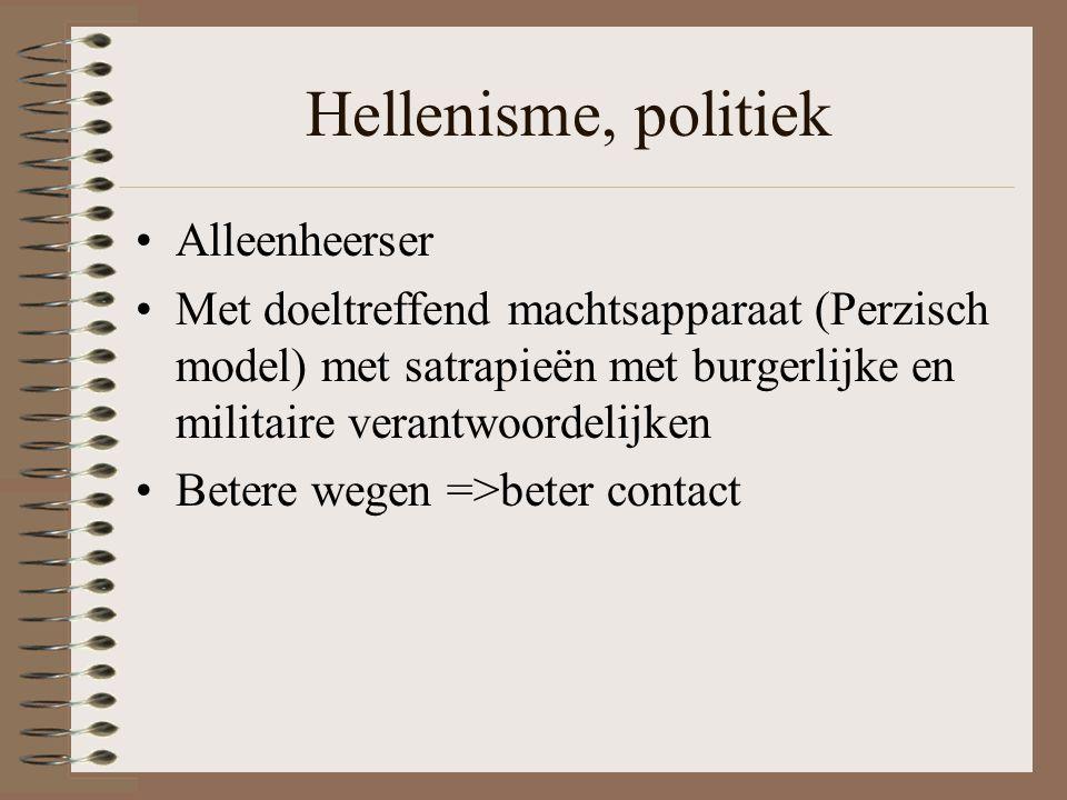 Hellenisme, politiek Alleenheerser
