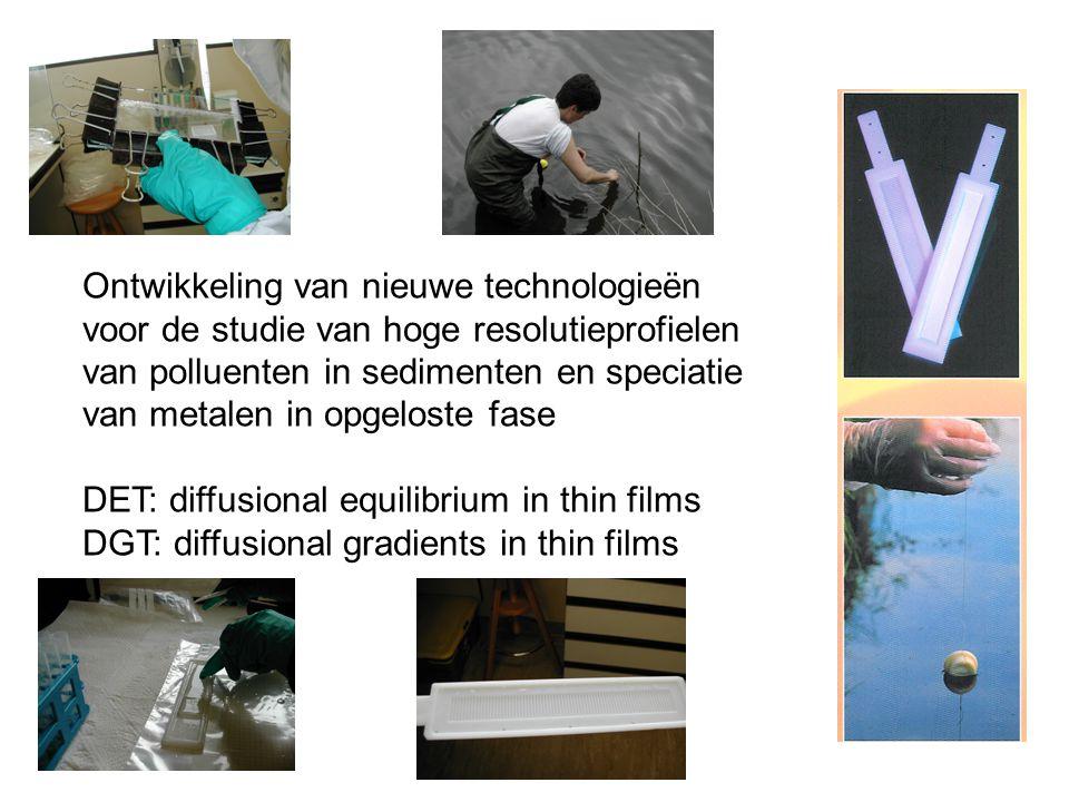 Ontwikkeling van nieuwe technologieën voor de studie van hoge resolutieprofielen van polluenten in sedimenten en speciatie van metalen in opgeloste fase