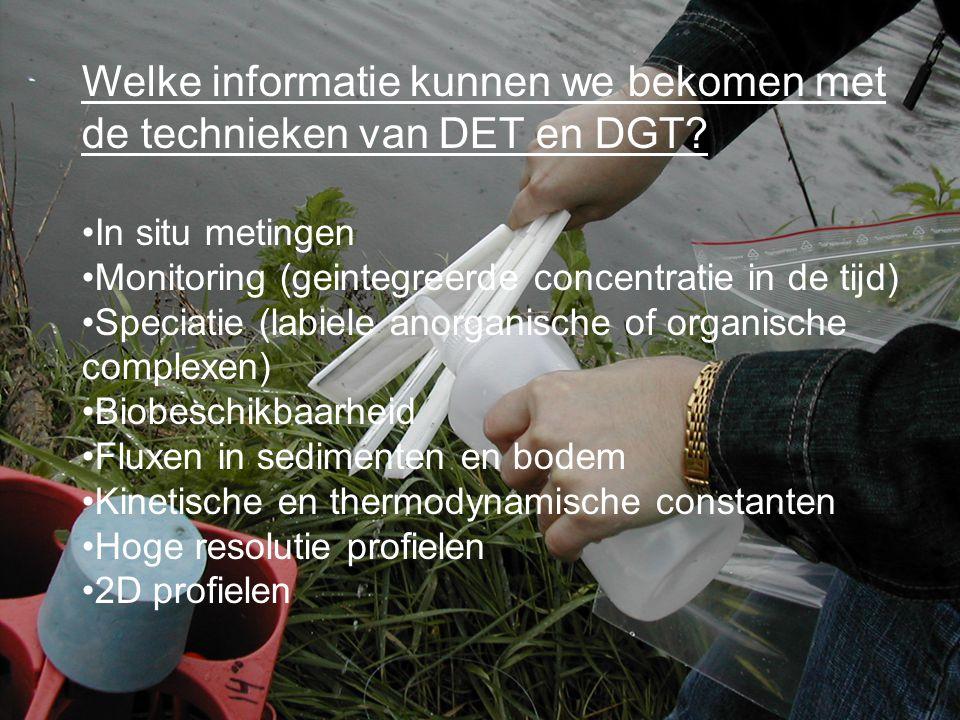 Welke informatie kunnen we bekomen met de technieken van DET en DGT