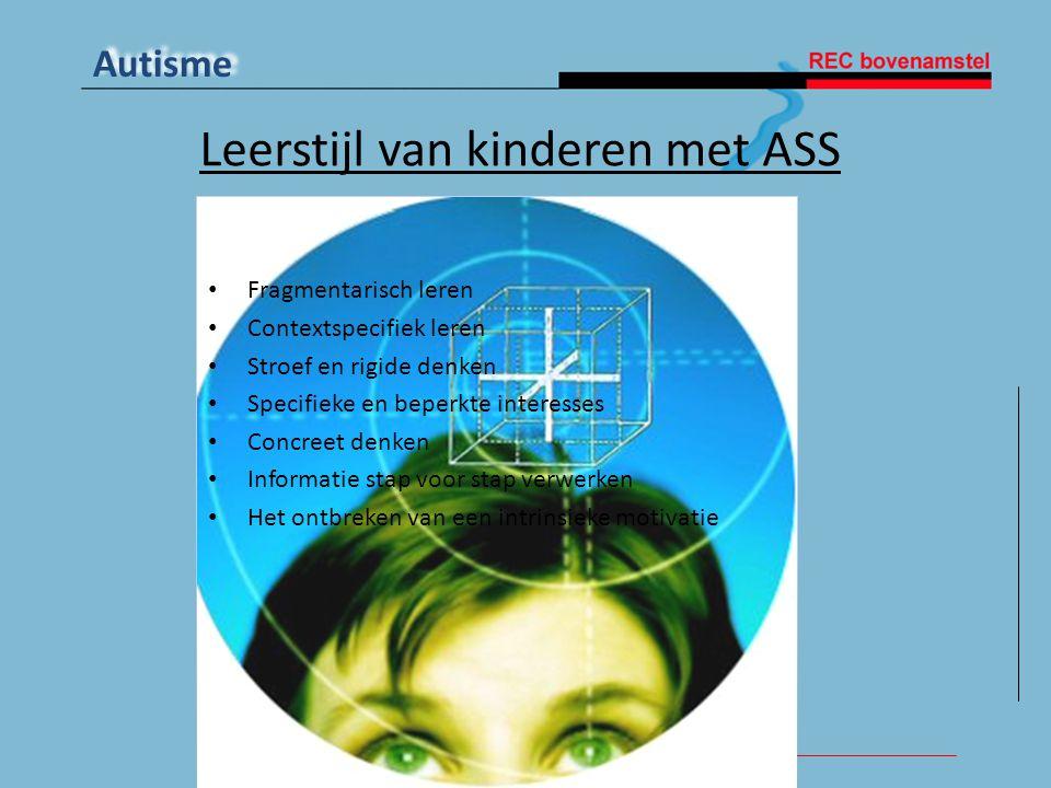 Leerstijl van kinderen met ASS