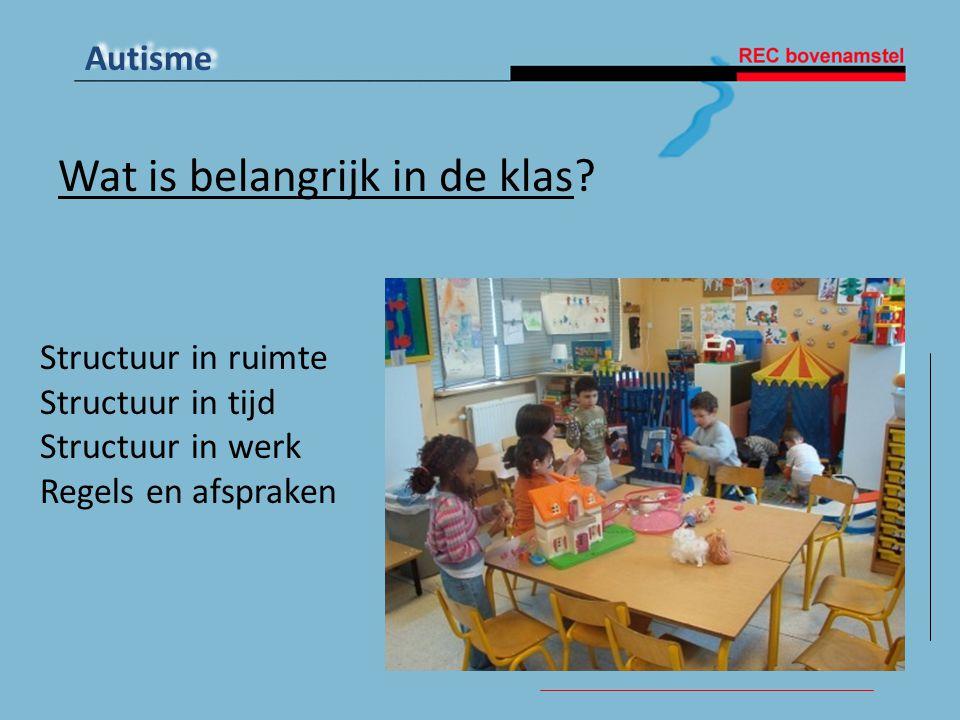 Wat is belangrijk in de klas