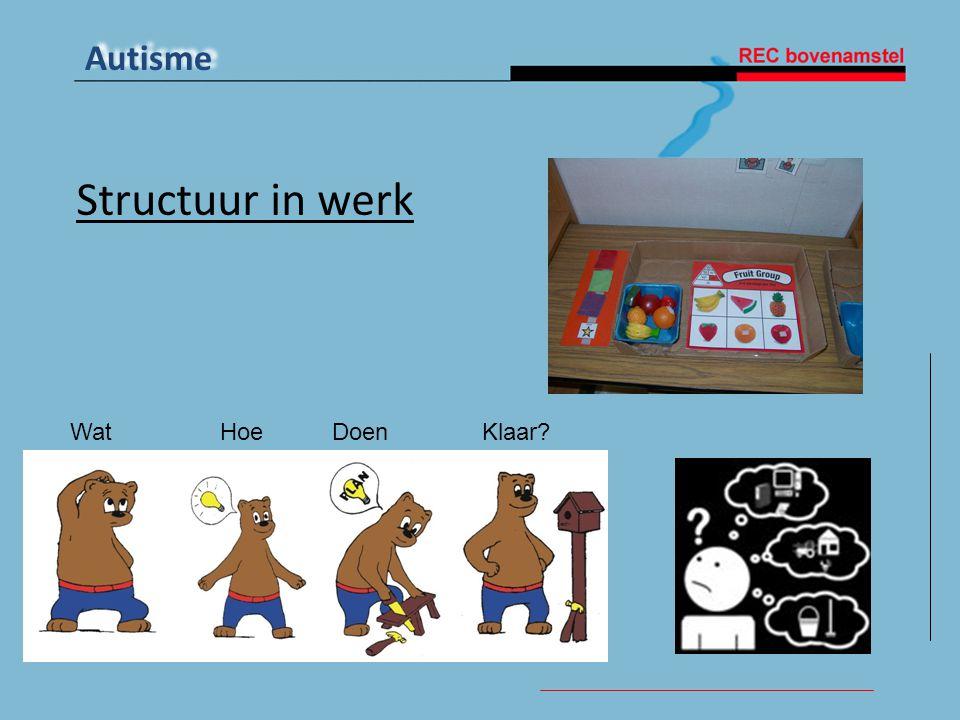 Structuur in werk Wat Hoe Doen Klaar Structuur in werk