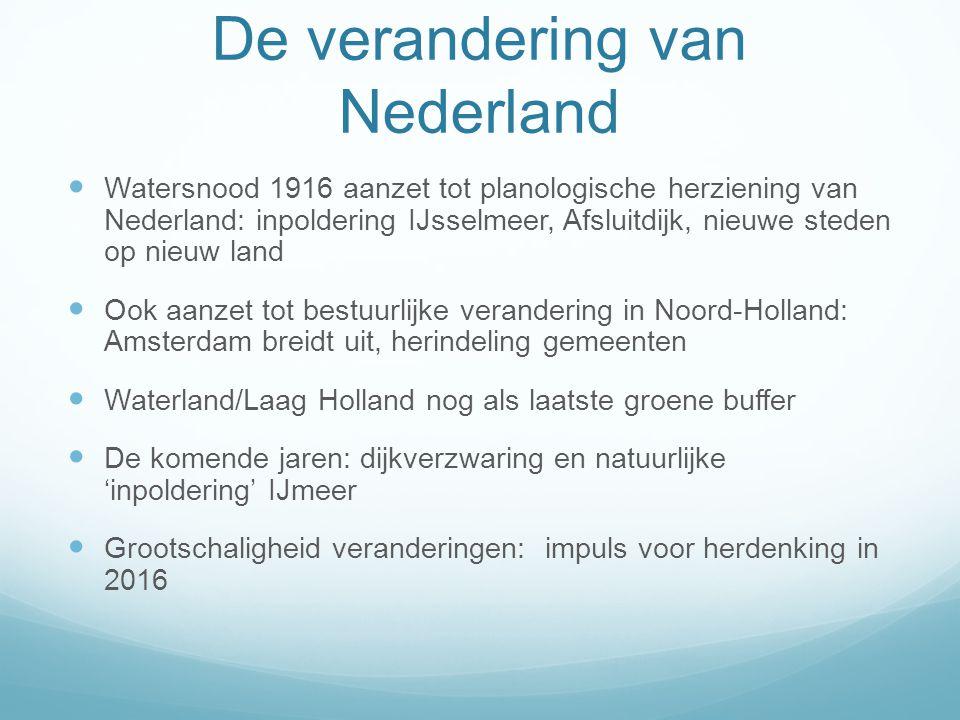De verandering van Nederland