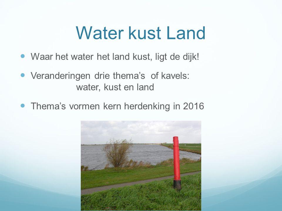 Water kust Land Waar het water het land kust, ligt de dijk!