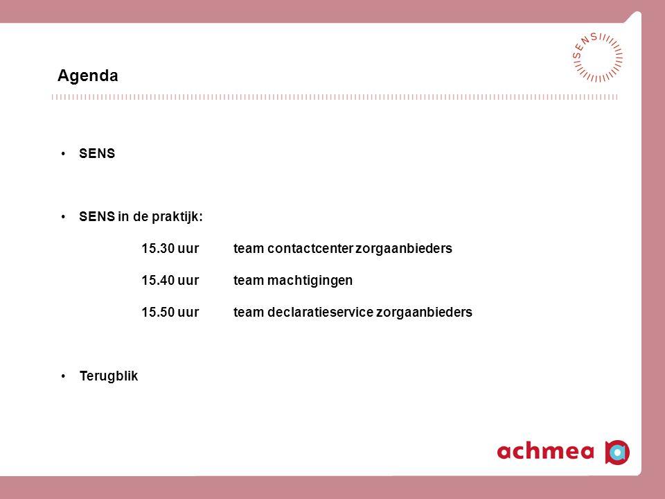 Agenda SENS SENS in de praktijk: