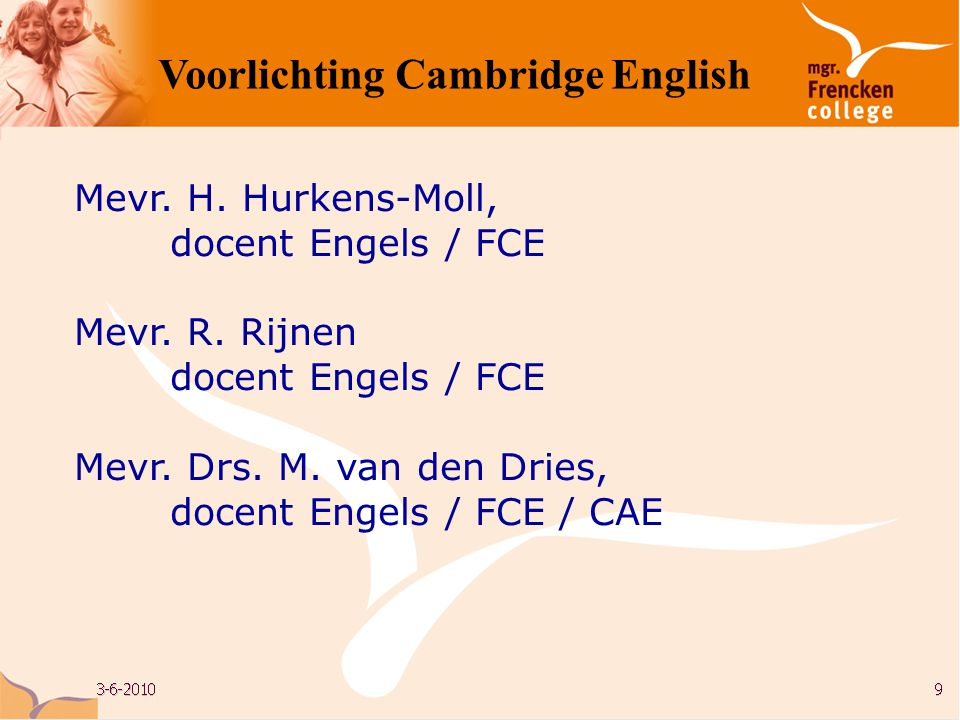 Voorlichting Cambridge English