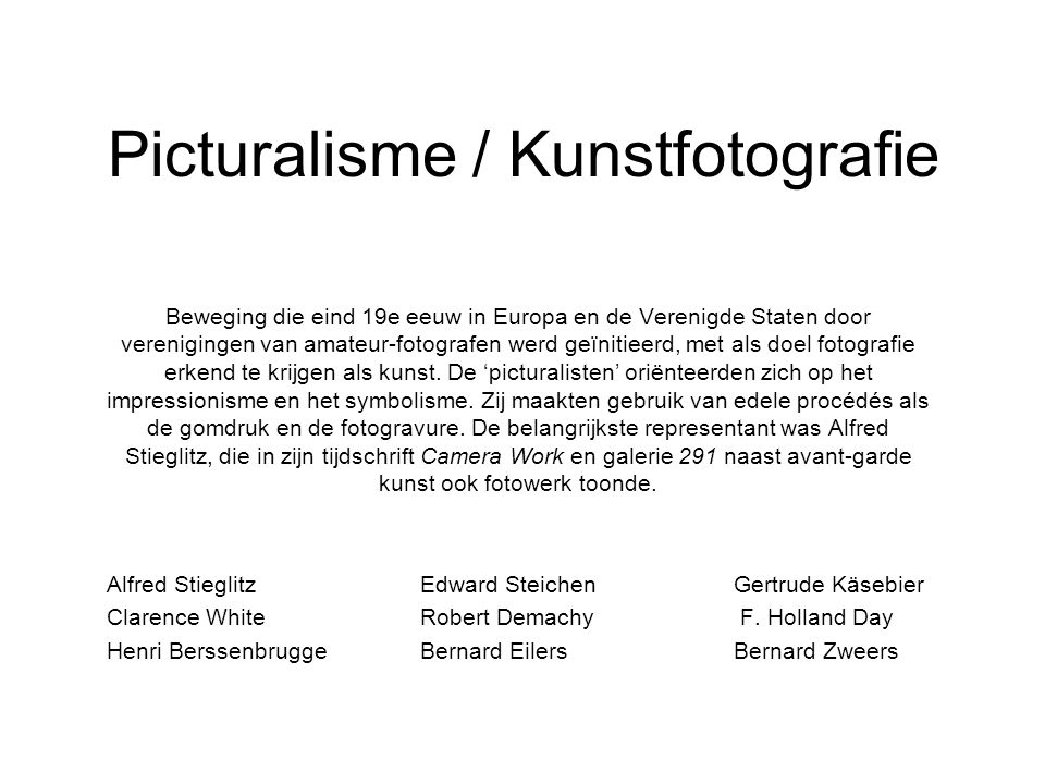 Picturalisme / Kunstfotografie