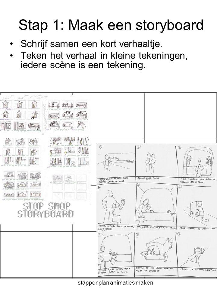Stap 1: Maak een storyboard