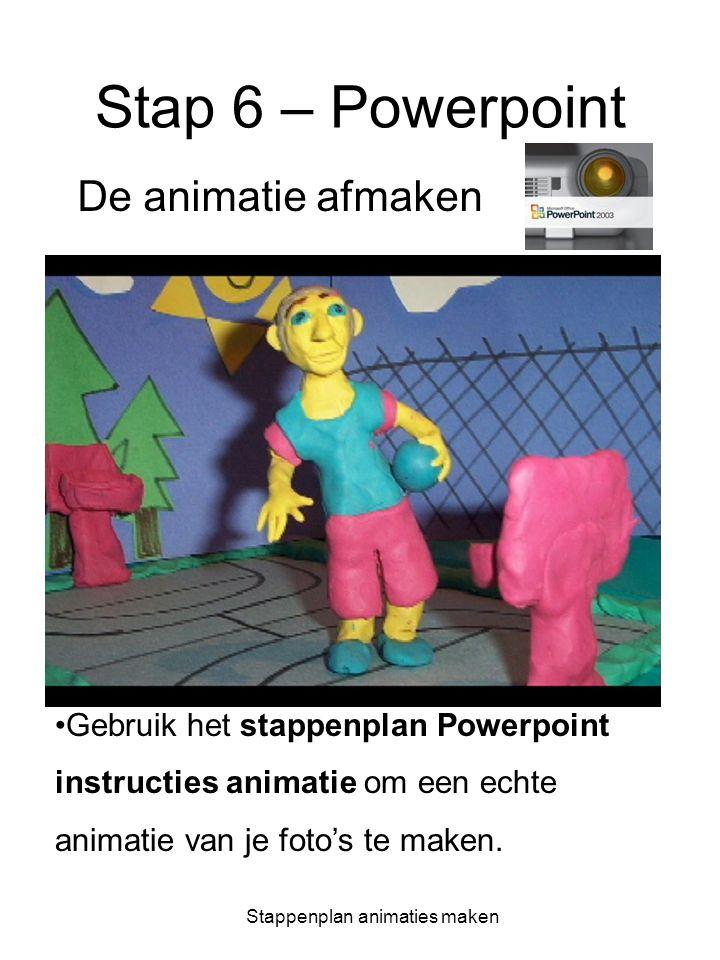 Stappenplan animaties maken