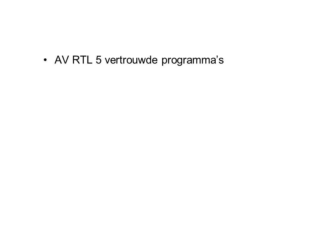 AV RTL 5 vertrouwde programma's