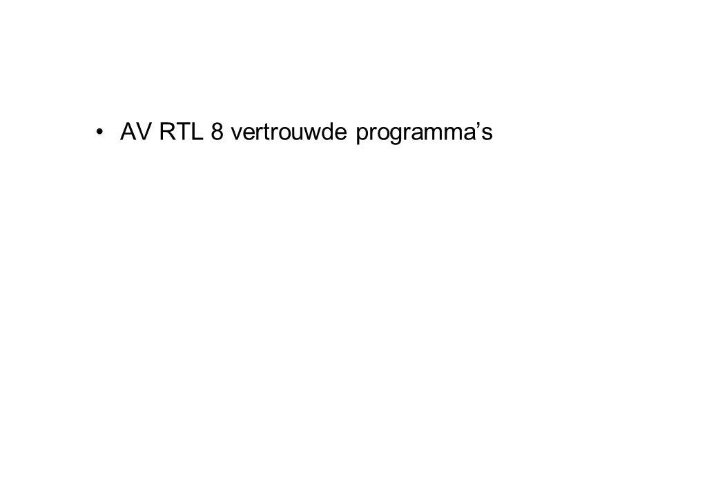 AV RTL 8 vertrouwde programma's