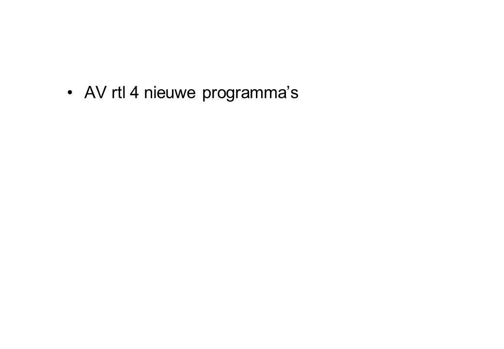 AV rtl 4 nieuwe programma's