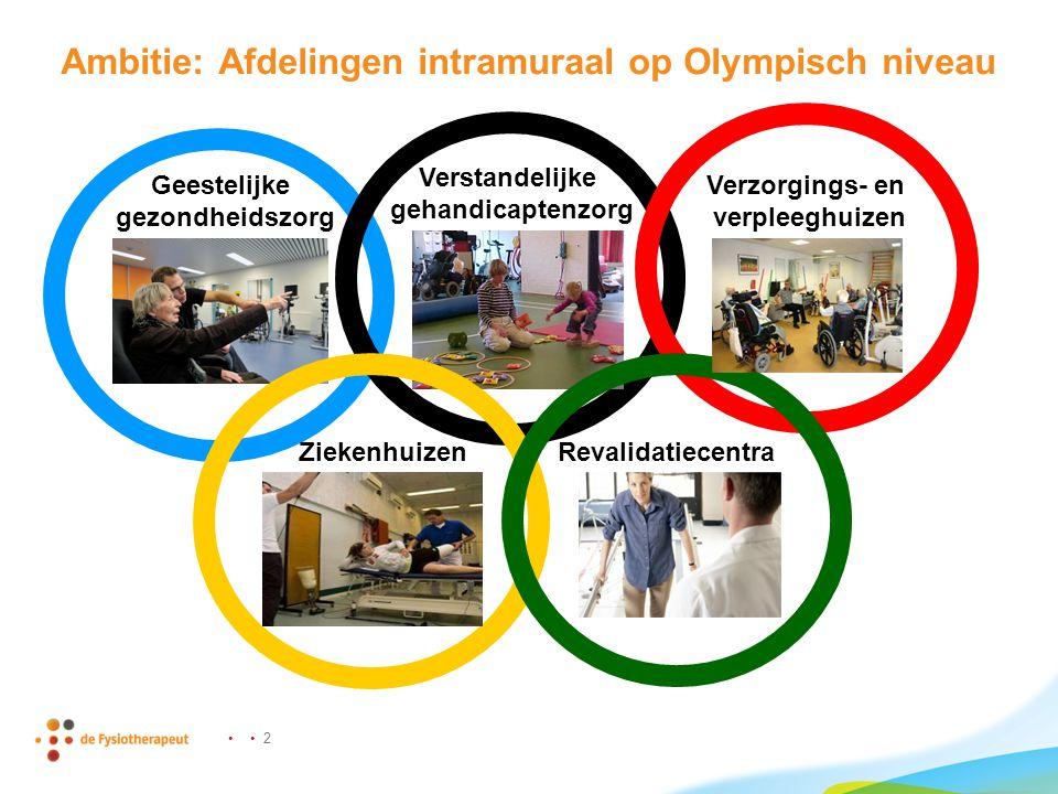 Ambitie: Afdelingen intramuraal op Olympisch niveau