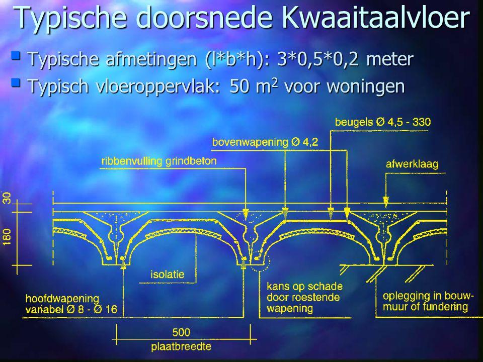 Typische doorsnede Kwaaitaalvloer