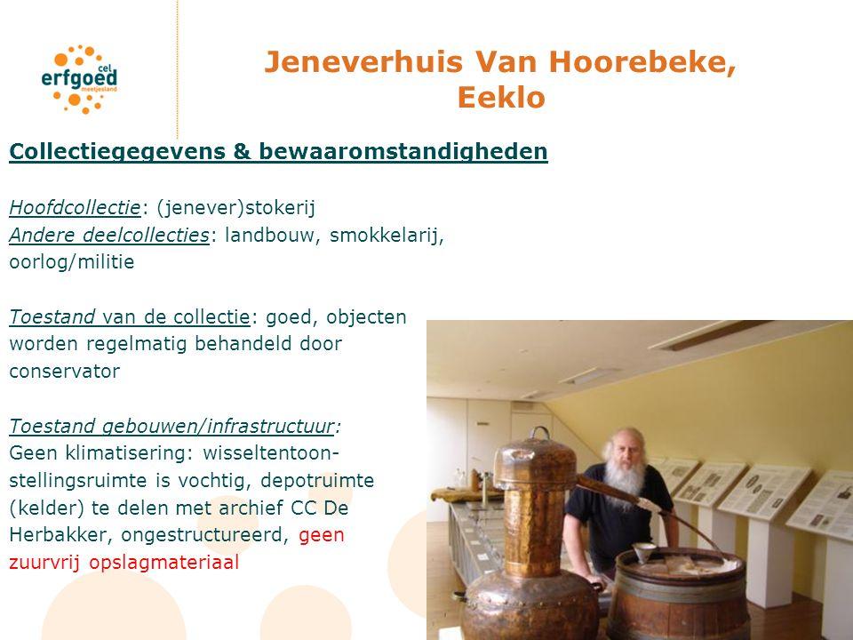 Jeneverhuis Van Hoorebeke, Eeklo