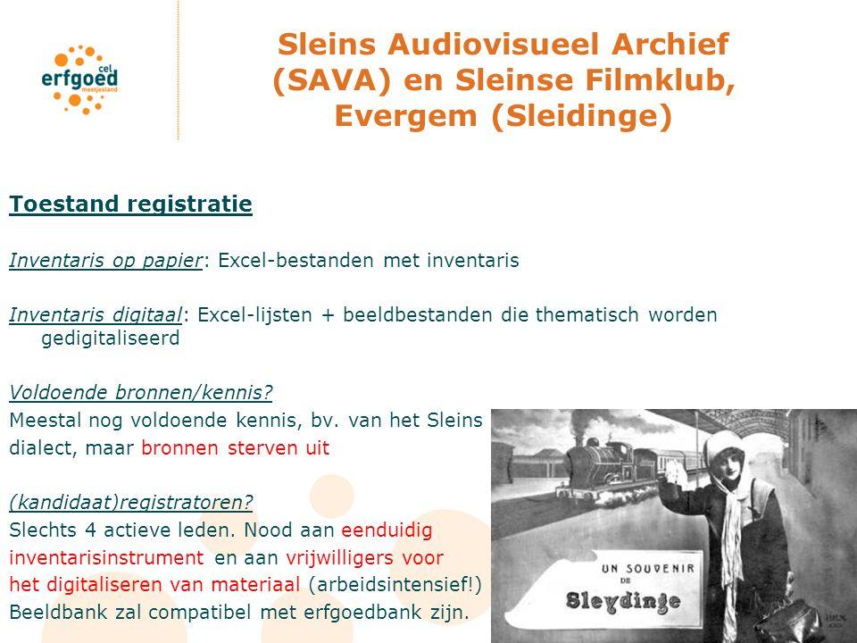 Sleins Audiovisueel Archief (SAVA) en Sleinse Filmklub, Evergem (Sleidinge)