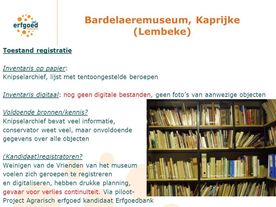 Bardelaeremuseum, Kaprijke (Lembeke)