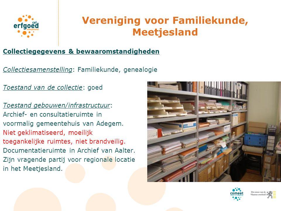 Vereniging voor Familiekunde, Meetjesland
