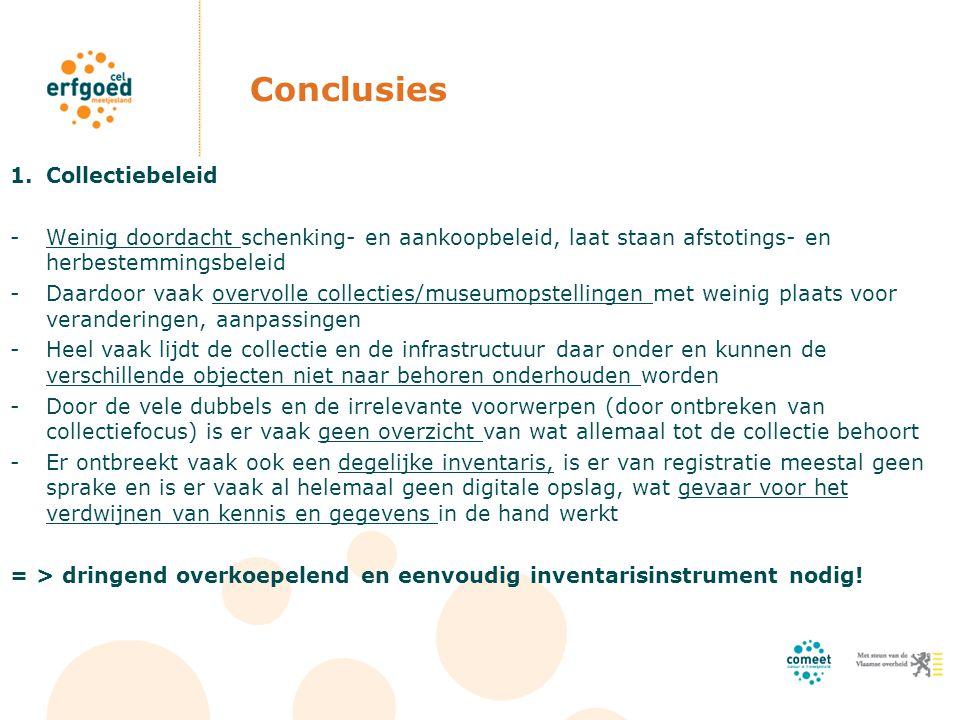 Conclusies Collectiebeleid