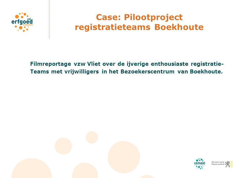 Case: Pilootproject registratieteams Boekhoute