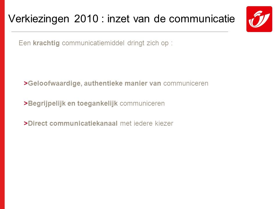 Overzicht Verkiezingen 2010 : Optimaal communiceren in een moeilijk politiek landschap.