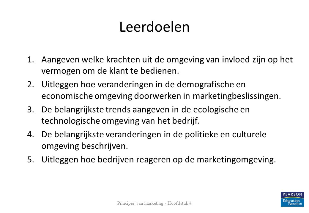 Principes van marketing - Hoofdstuk 4