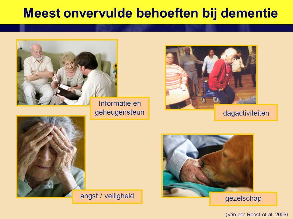 Meest onvervulde behoeften bij dementie