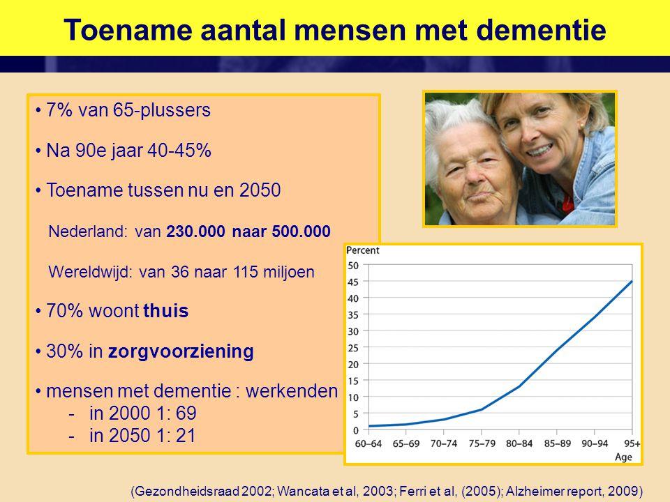 Toename aantal mensen met dementie