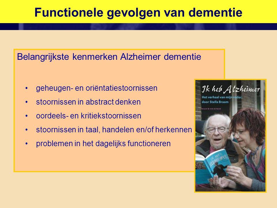 Functionele gevolgen van dementie