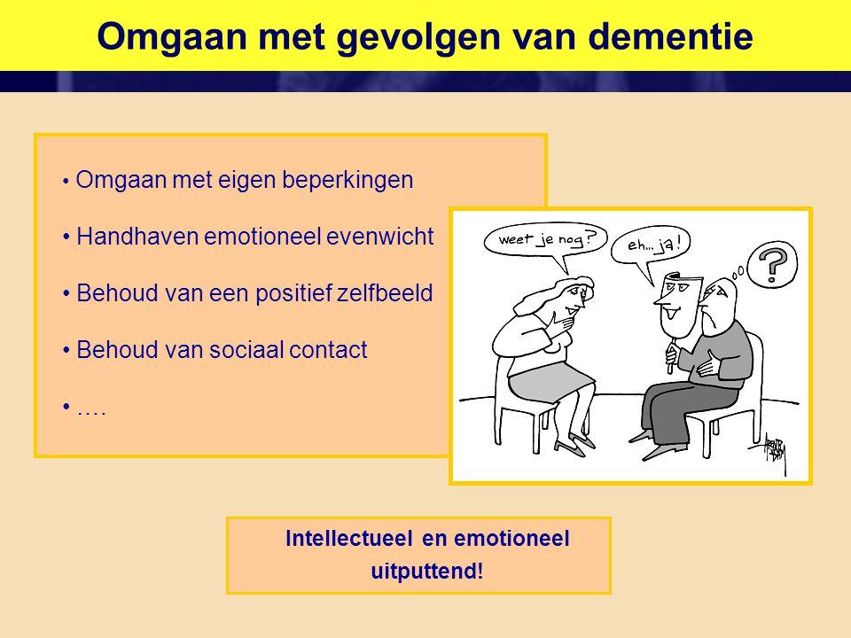 Omgaan met gevolgen van dementie