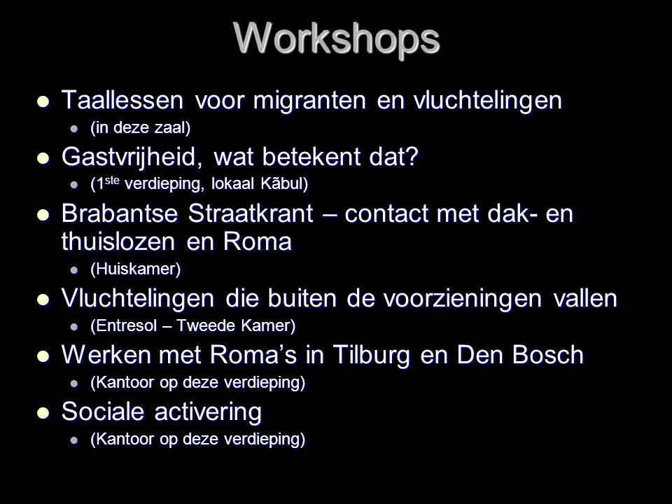 Workshops Taallessen voor migranten en vluchtelingen
